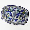 "Le Souk Ceramique Aqua Fish Design 13"" Rectangular Platter"