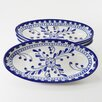 "<strong>Le Souk Ceramique</strong> Azoura Design 4.5"" Oval Platter (Set of 4)"