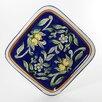 """Le Souk Ceramique Citronique Design 11.5"""" Square Platter"""