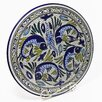 "<strong>Aqua Fish Design 15"" Round Platter</strong> by Le Souk Ceramique"