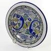 Le Souk Ceramique Aqua Fish Design Small Serving Bowl