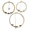 Moe's Home Collection 3 Piece Ring of Fire Wall Décor Set