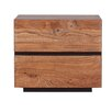Moe's Home Collection Mountain Teak 2 Drawer Nightstand