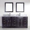 "Bauhaus Bath Caledonia 75"" Double Bathroom Vanity Set with Mirror"