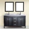 "Bauhaus Bath Coraline 60"" Vanity Set with Double Sink"