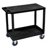 Luxor E Series Heavy Duty Utility Cart with 1 Tub/1 Flat Shelves