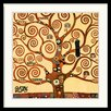 Amanti Art 'Tree of Life (Detail 1)' by Gustav Klimt Framed Graphic Art