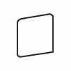 "Ash Creek 3"" x 3"" Bullnose Corner Tile Trim in Almond"