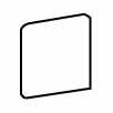 """<strong>Costa Rei 3"""" x 3"""" Bullnose Corner Tile Trim in Oro Miele</strong> by American Olean"""