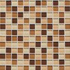 "Legacy Glass 12"" x 12"" Glazed Wall Mosaic in Desert Blend"