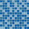 "American Olean Legacy Glass 1"" x 1"" Glass Glazed Mosaic in Blue Blend"