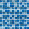"Legacy Glass 12"" x 12"" Glazed Wall Mosaic in Blue Blend"