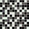 "American Olean Legacy Glass 1"" x 1"" Glass Glazed Mosaic in Black Blend"
