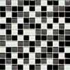 "<strong>Legacy Glass 1"" x 1"" Glazed Wall Mosaic in Black Blend</strong> by American Olean"