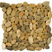Emser Tile Natural Stone Random Sized Flat Rivera Pebble Mosaic in Gold