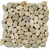 Emser Tile Natural Stone Flat Rivera Random Sized Pebble Unpolished Mosaic in Cream