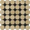 Emser Tile Natural Stone Random Sized Travertine Octagon Mosaic in Beige/Black