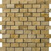 Emser Tile Natural Stone Split Face Brick Joint Travertine Unpolished Mosaic in Gold