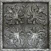 """Emser Tile Camelot 4"""" x 4"""" Merlin Deco in Silver"""