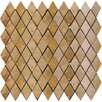 Emser Tile Natural Stone Tumbled Travertine Rhomboid Mosaic in Oro