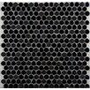 Emser Tile Confetti Penny Round Porcelain Glazed Mosaic in Black