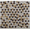 Emser Tile Confetti Porcelain Penny Round Mosaic in Caldo