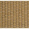 Emser Tile Confetti Oval Round Porcelain Glazed Mosaic in Sand