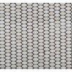 Emser Tile Confetti Oval Round Porcelain Glazed Mosaic in White