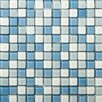 Emser Tile Lucente Glossy Mosaic in Ocean Mist and Crystal
