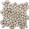 Emser Tile Natural Stone Venetian Random Sized Pebble Unpolished Mosaic in Beige