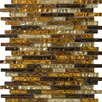 Emser Tile Vista Random Sized Glass Mosaic in Caldo Linear Blend