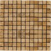 """Emser Tile Natural Stone 1"""" x 1"""" Travertine Unpolished Mosaic in Oro"""