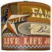 "<strong>Illumalite Designs</strong> 11"" Joy Inspired Americana Drum Shade"