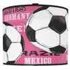 "<strong>Illumalite Designs</strong> 11"" Soccer Balls Drum Shade"