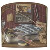 "<strong>Illumalite Designs</strong> 11"" Gone Fishing' Drum Shade"
