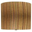 "<strong>Illumalite Designs</strong> 11"" Cinnamon Stripes Drum Shade"
