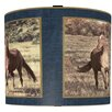 "<strong>Illumalite Designs</strong> 11"" Majestic Horses Drum Shade"