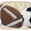 "<strong>Illumalite Designs</strong> 11"" Mixed Sports Balls Drum Shade"