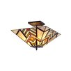<strong>Chloe Lighting</strong> Mission 2 Light Aberle Semi Flush Mount
