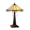 "Chloe Lighting Mission Belle 22.6"" H Table Lamp with Empire Shade"