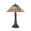 "Chloe Lighting Geometric Cassidy 23.43"" H Table Lamp with Empire Shade"