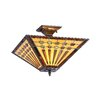 <strong>Chloe Lighting</strong> Mission 2 Light Chadrick Semi Flush Mount