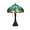 "Chloe Lighting Victorian Amore 21.3"" H Table Lamp with Bowl Shade"