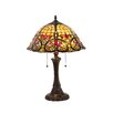 "<strong>Chloe Lighting</strong> Victorian Bertram 21.7"" H Table Lamp with Bowl Shade"