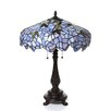 "Chloe Lighting Tiffany Wisteria 24"" H Table Lamp with Bowl Shade"