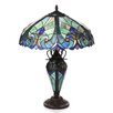 """Chloe Lighting Tiffany 26"""" H Style Victorian Double Lit Table Lamp with 30 Cabochons"""