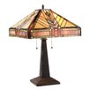 """Chloe Lighting Edward 23.6"""" H Table Lamp with Square Shade"""