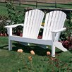 <strong>Seaside Casual</strong> Adirondack Shell Back Garden Bench