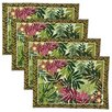 Design Imports Palm Paradise Tapestry Placemat (Set of 4)