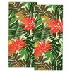 Design Imports Palm Paradise Print Dishtowel (Set of 2)